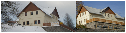 Guesthouse Yellow in winter and in summer